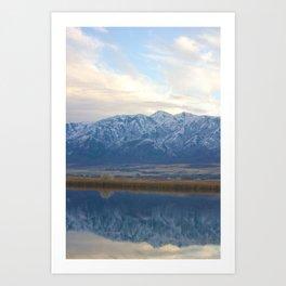 Utah Mountains Mirrored on the Water Art Print