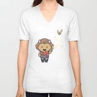 gryffindor V-neck T-shirts featuring Gryffindor by Kiell R.