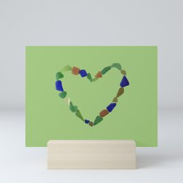 And the Greatest of These is Love #heart #seaglasssmiles Mini Art Print
