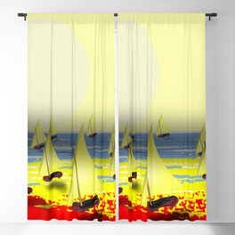 May's Return - shoes stories Blackout Curtain