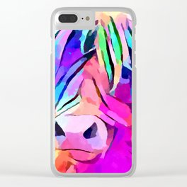 Highland Cow 3 Clear iPhone Case