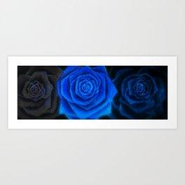 Blu Trio Art Print
