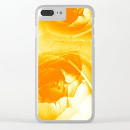 Golden Roses Clear iPhone Case