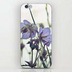 Sunlit meadow Crane's-bill iPhone & iPod Skin
