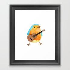 music bird Framed Art Print