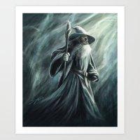 gandalf Art Prints featuring Gandalf by Svenja Gosen