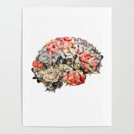 Flower Brain Poster