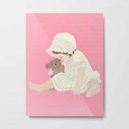 BABY GIRL PINK Metal Print