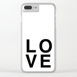 LOVE helvetica Clear iPhone Case