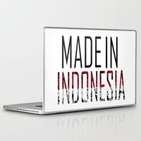 indonesia Laptop & iPad Skins featuring Made In Indonesia by VirgoSpice