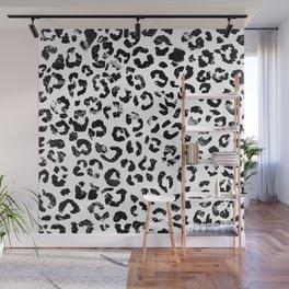 Modern black white marble stylish leopard pattern Wall Mural