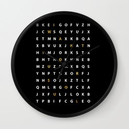 Wanna Hear A Secret II Wall Clock