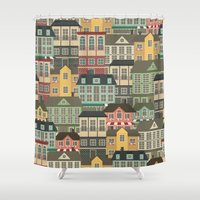 urban Shower Curtains featuring Urban by Julia Badeeva