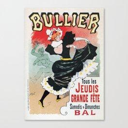 Bullier French dance hall days Canvas Print