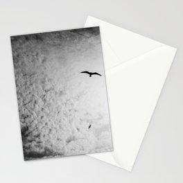 Black bird sky Stationery Cards