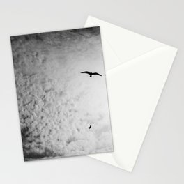 Black bird sky Stationery Cards