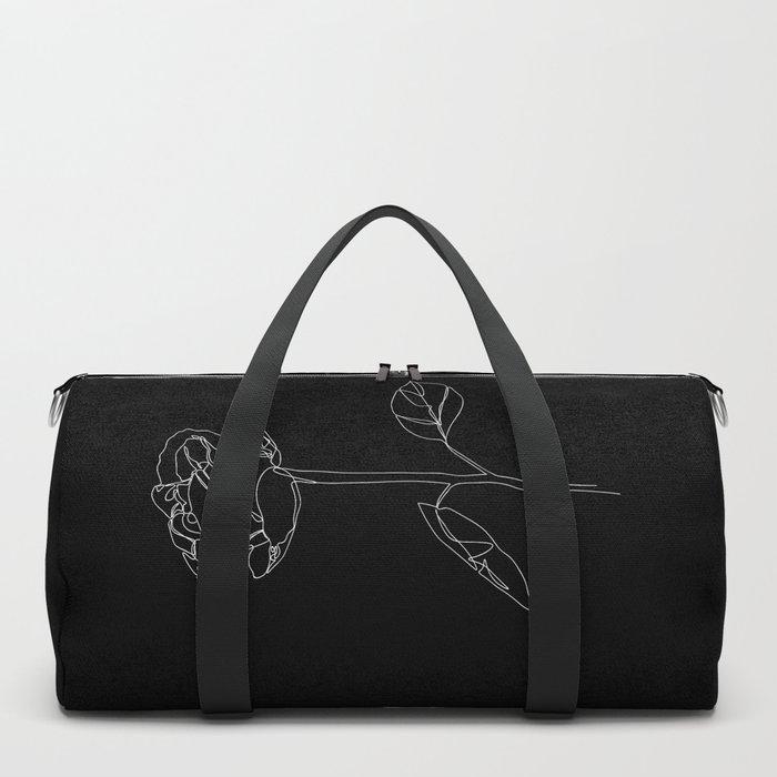 White Rose Duffle Bag