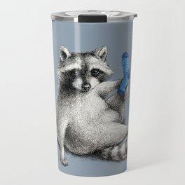 Yoga Raccoon Travel Mug