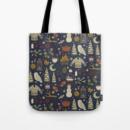 Winter Nights Tote Bag