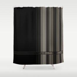 Modern Black Ribbon Pattern Design Shower Curtain