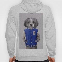 dog boy portrait Hoody