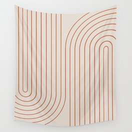 Minimal Line Curvature - Coral II Wall Tapestry