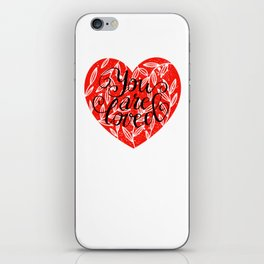 You Are Loved Lettering iPhone Skin