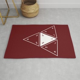Red Unrolled D4 Rug