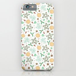 Pagan Yule Solstice Pattern iPhone Case