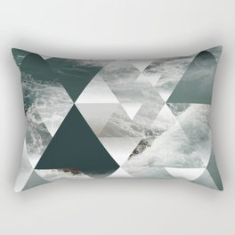 Waves polygon Rectangular Pillow