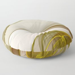 Fractal Art Precious Metals, Abstract Graphic Floor Pillow