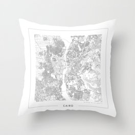 Cairo Map 2 Throw Pillow