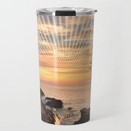 Californian sunset - Graphic sunset Travel Mug