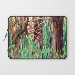 Lost in the Forest - watercolor painting collage Laptop Sleeve