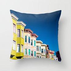 Colorful San Francisco 3 Throw Pillow