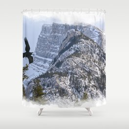 Mt Rundle & Raven (Canadian Rockies) Shower Curtain