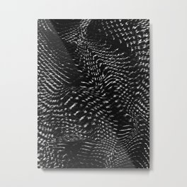 Echoes III - Black and White Metal Print