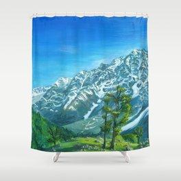 Himalaya mountains Shower Curtain