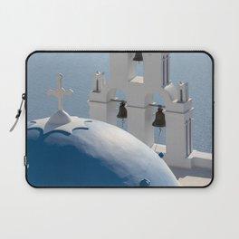Santorini Church, Greece Laptop Sleeve