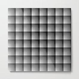 Shades Of Grey Pallete Square Tile Pattern Metal Print