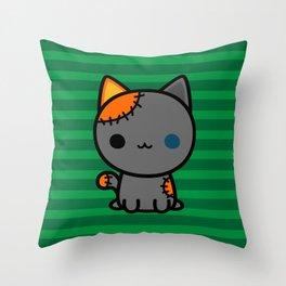 Cute spooky kitty Throw Pillow
