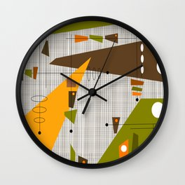 Explosion Of Rectangles Wall Clock