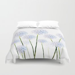 Pretty Flowers in Blue and Violet Duvet Cover