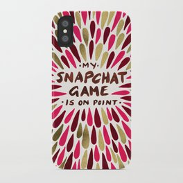 Snapchat – Red & Gold iPhone Case