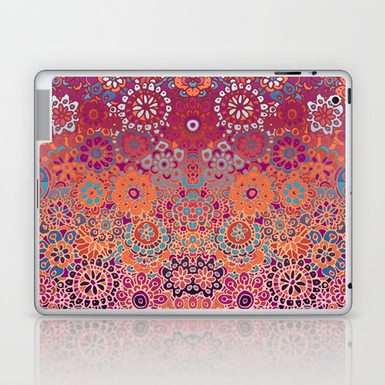 Psychedelic Ombre Flower Doodle Laptop & iPad Skin