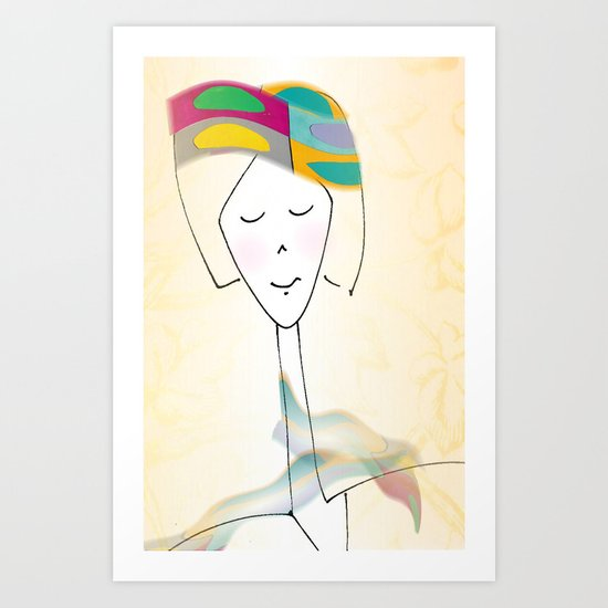 She was known for her interesting hats. Art Print