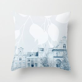 springtime in amsterdam Throw Pillow