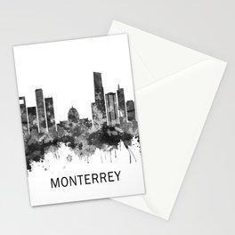Monterrey Mexico Skyline BW Stationery Cards