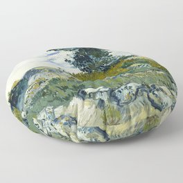 The Rocks by Vincent van Gogh Floor Pillow