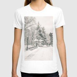 New York City Winter Trees in Snow T-shirt